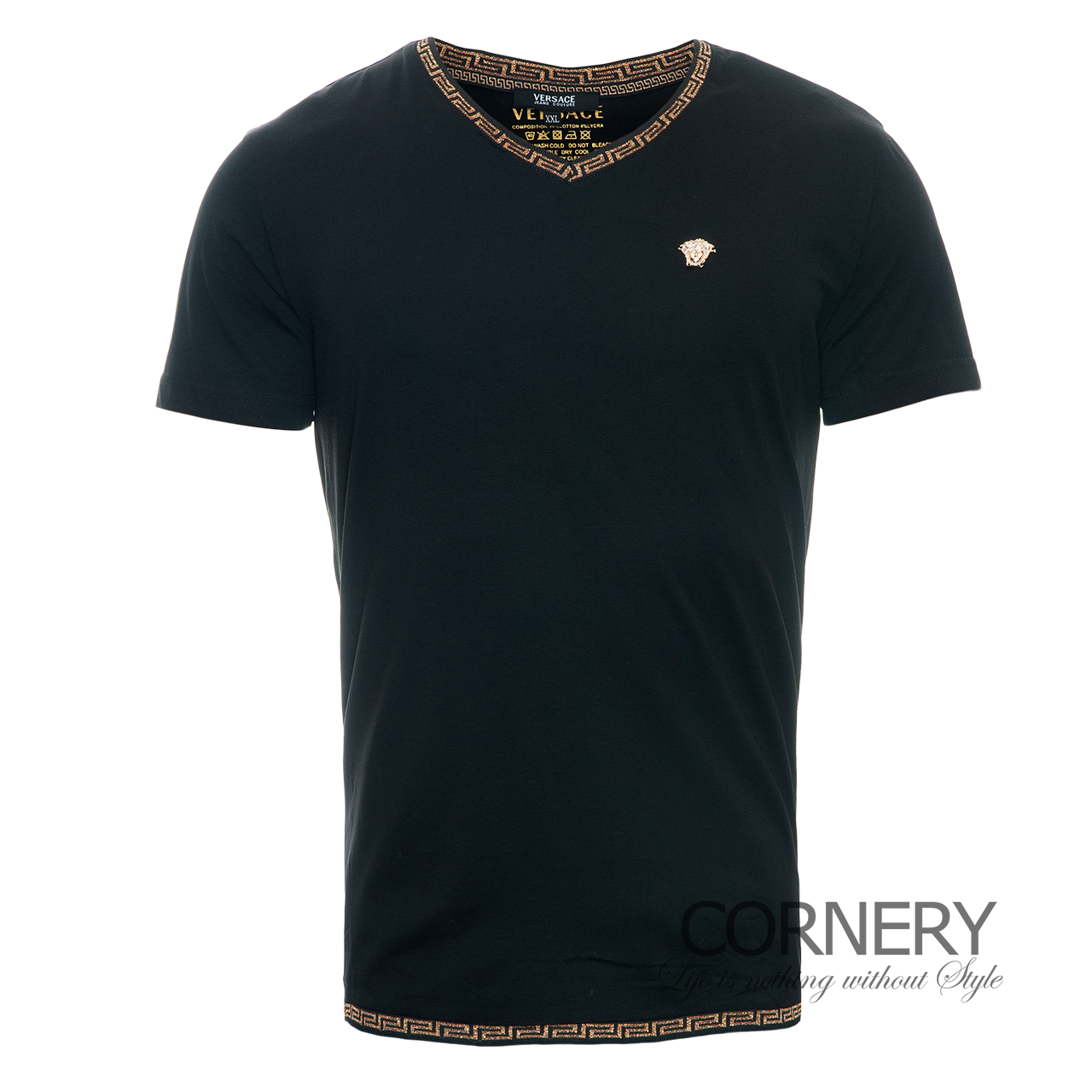Футболки Versace Black T-Shirt