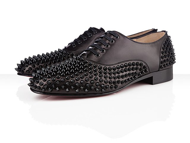 Christian Louboutin Black Spikes Freddy