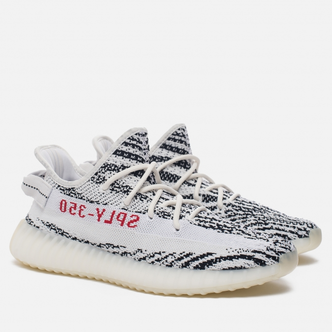 Yeezy Boost 350 V2 White/Core Black/Red