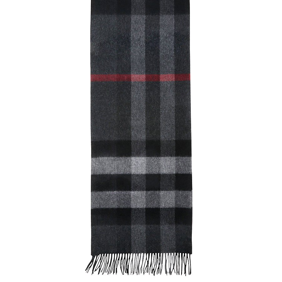 Шарфы Burberry Classic Cashmere Scarf in Check Grey
