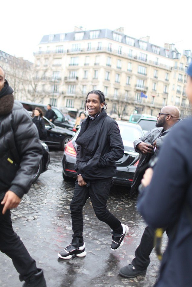 ASAP-Rocky-wears-Rick-Owens-for-Adidas-running-black-white-runway-sneakers-shoes-2.jpg
