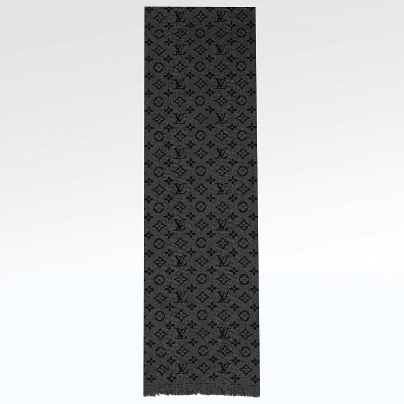 Шарф Louis Vuitton Monogram Classic Scarf Charcoal Grey