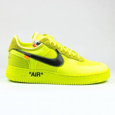 Кроссовки Nike X Off White Air Force 1 Volt Yellow