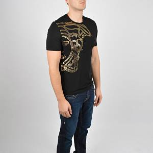 Versace Collection Foil Medusa T Shirt Black
