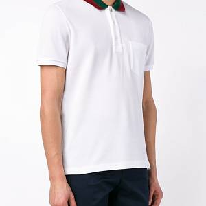 Gucci polo with Web collar