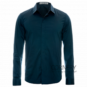 Cornery Shirt Blue hiddenbutton