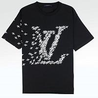Футболка Louis Vuitton LV Planes Printed T Shirt Black