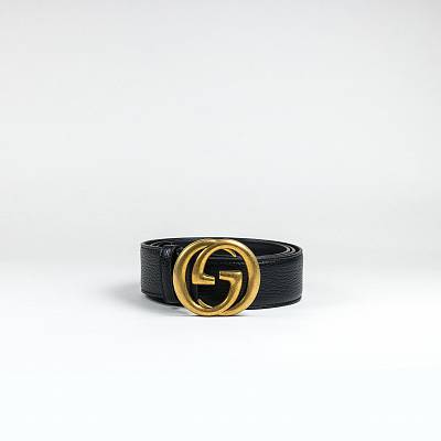 Ремень Gucci GG Black Gold Belt