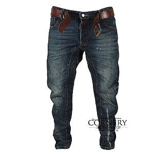 DSQUARED  INDIGO FADED PAINT JEANS