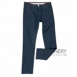 Cornery Blue Cotton Pants