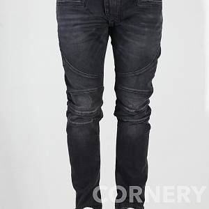 BALMAIN WAXED COTTON DENIM JEANS
