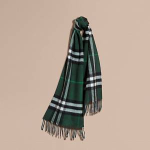 Burberry Reversible Check Colour Scarf Green