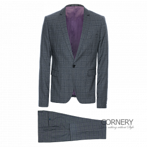 Cornery Grey Squared Suit