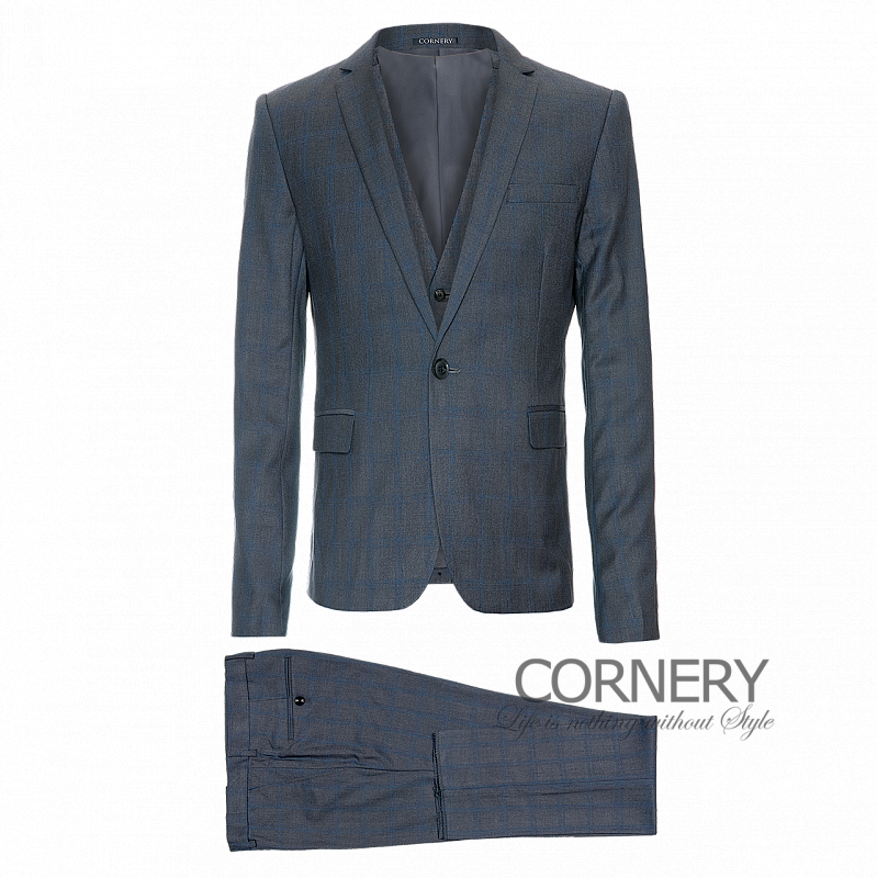 Cornery Three-Piece Grey Suit