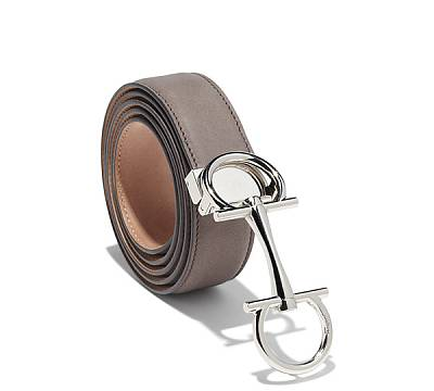 Ferragamo DOUBLE GANCINI ADJUSTABLE BELT
