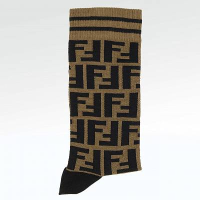 Носки Fendi FF Brown Cotton Socks