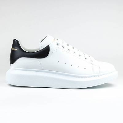 Кроссовки Alexander Mcqueen Raised Sole Low Top White Black Sneaker