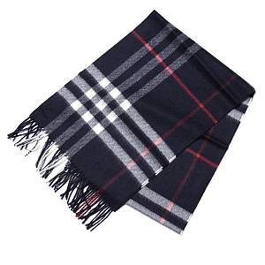 Burberry Classic Cashmere Scarf in Check Blue