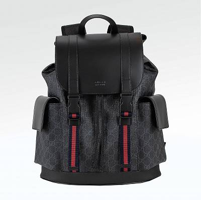 Рюкзак Gucci GG Supreme Backpack Black