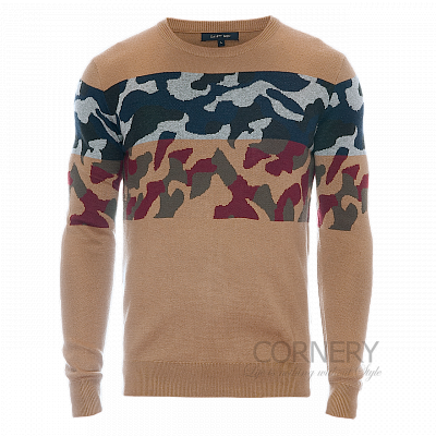 Cornery Sweater Brown Camo