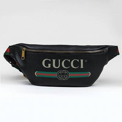 Сумка Gucci Vintage Logo Bum Bag Black