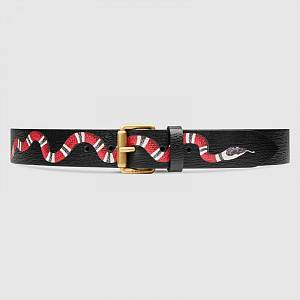Gucci Kingsnake belt black