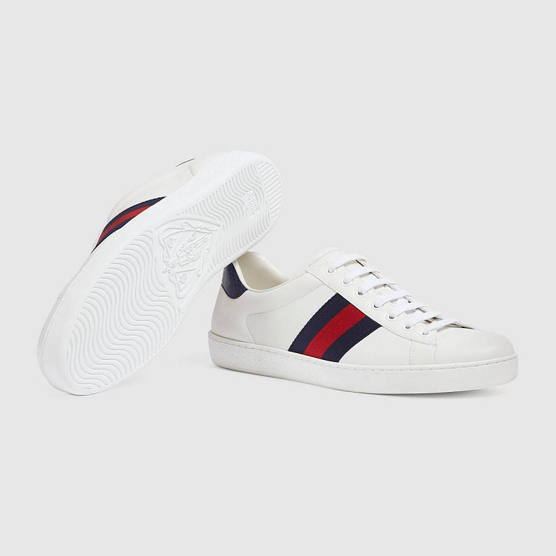 Gucci Ace leather sneaker Blue
