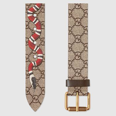 Gucci GG Supreme belt with Kingsnake