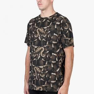 MARCELO BURLON Brown All-over Snake T-Shirt