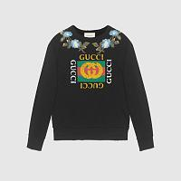 Sweatshirt Gucci logo and flowers