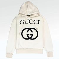 Толстовка Gucci GG Interlocking Logo Hoodie Cream
