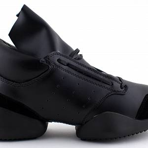 RICK OWENS x Adidas Leather and Rubber Sneakers