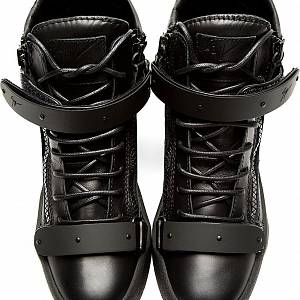 Giuseppe Zanotti Matte Double-Bar High-Top