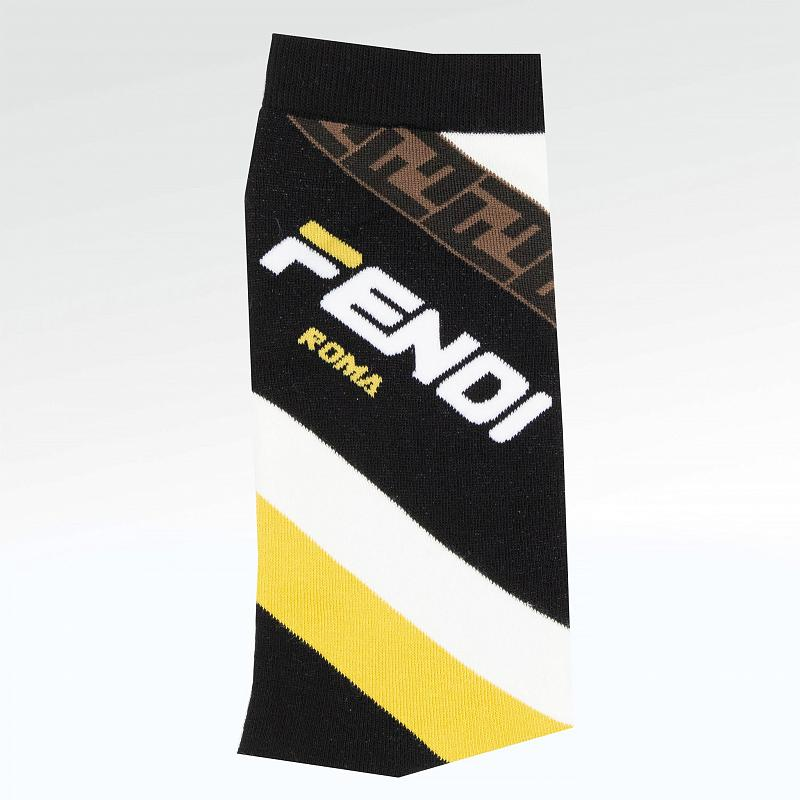 Носки Fendi X Fila Logo Cotton Thick Socks