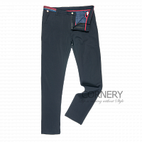Cornery Navy Cotton Pants