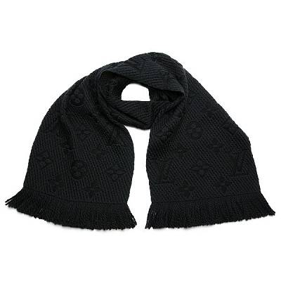 Шарф Louis Vuitton Monogram Logomania Black Scarf