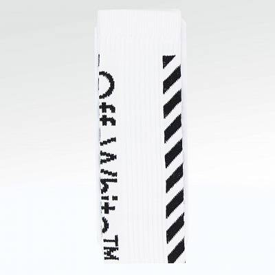 Носки Off White Diagonal Stripe Socks White