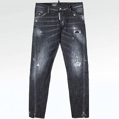 Джинсы Dsquared2 Black Worked Skater Kenny Twist Jeans