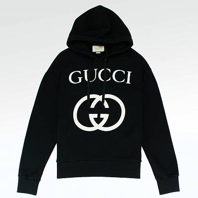 Толстовка Gucci GG Interlocking Logo Hoodie Black