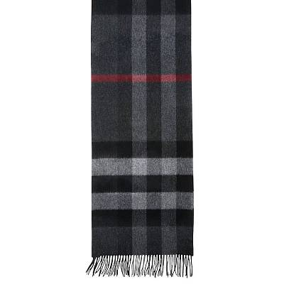 Burberry Classic Cashmere Scarf in Check Grey