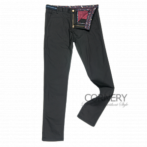 Cornery Black Cotton Pants
