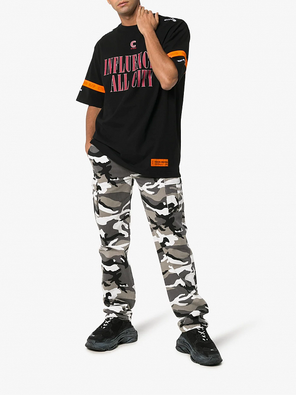 Heron Preston Influencer Graphic Print Cotton T-Shirt