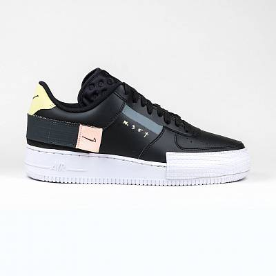 Кроссовки Nike Air Force 1 Type Black White Sneaker