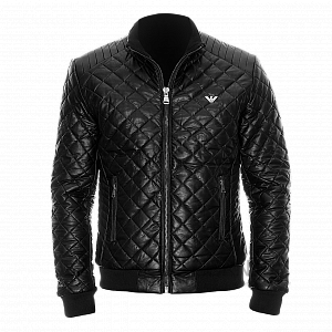 EA Quilted Leather Jacket
