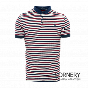 Angelo Galasso Polo Striped